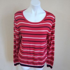 J. Crew Mercantile Striped Sweater Size L